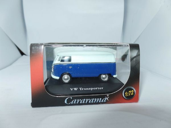 Cararama 1/72 Scale Volkswagon VW Transporter Van Blue & White